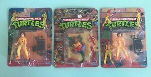 Vtg Teenage Mutant Ninja Turtles Unopened Lot April O'Neal Leatherhead 10 Back