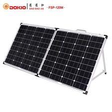 Dokio 120W  12V Foldable Solar Panel Kit MonoCharging  CaravanCampingPower