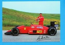 Michele Alboreto - Formula 1 AGIP  Goodyear   Ferrari  --  vintage new postcard