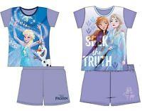 Girls Frozen Short Pyjamas Character Spring Summer Nightwear 12 Months-10 Years