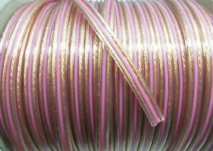 3M Transparent Spaced (16AWG) OFC Speaker Cable/Wire, Car Audio/Sub/Home Cinema.
