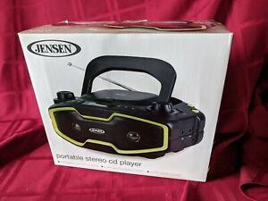 JENSEN CD-575 Portable Stereo MP3/CD Player with PLL AM/FM Radio, Black