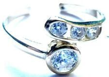 Toe Ring - Free Shipping! 14Kt Solid Gold Cubic Zirconia Adjustable