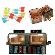 1 Set 12V 2Way Circuit Car Boat Auto Relay+Terminal Blade Fuse Box Holder Kits