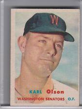 1957 TOPPS #153 KARL OLSON WASHINGTON SENATORS 5087