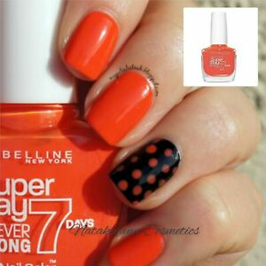 Maybelline Superstay 7 Days Gel Nail Polish 270 ORANGE PUNCH NEW + Free UK PP
