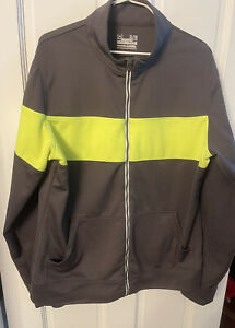 Under Armour Semi Fitted All Season Gear Full Zip Jacket Mens XL Gray/Yellow