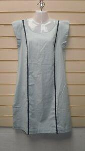 Ladies John Baner Dress Light Blue Size 14 Lace detail BNWOT G001