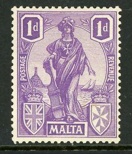 Malta 1924 Commemoratives 1p Violet Scott 101 Mint A253  ⭐⭐⭐