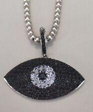Carol Brodie Rarities MLD 925 Sterling & Black Spinel Evil Eye Pendant Necklace