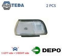 2x DEPO INDICATOR LIGHT BLINKER LAMP PAIR 212-1556R-WE I NEW OE REPLACEMENT