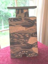 SIGNED Rick Stafford NERIAGE Technique STUDIO ART POTTERY  lg vase Washington st