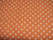 Baumwolle Baumwollstoff Blümchen orange weiß Meterware Kinderstoff Patchwork