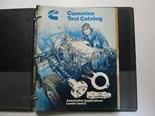 Cummins Service Tools Catalog Automotive Applications Levels 1 & 2 + Pats Book