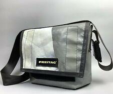 FREITAG Dexter Gray White Bag Messenger Tasche Cycling Crossbody Strap Medium