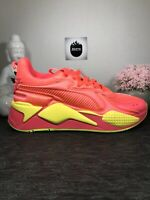 Puma RS-X Soft Case Womens Running Shoes Pink Alert/Yellow 371983-01 Size 9.5