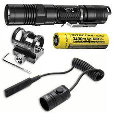 Combo: Nitecore MH12GT Flashlight w/GM02 Gun Mount & RSW1 Pressure Switch