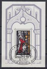 Germany Bund BRD 1977 Θ BONN Bl.15 Weihnachten Christmas Glasfenster Window