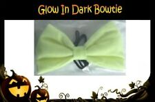GLOW in the DARK Neon Yellow BOW TIE Unisex Halloween Spooky Costume Work Party