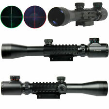 3-9x40 Tactical Rifle Scope Red & Green illuminated Mil Dot w/ 20mm Picatinny +