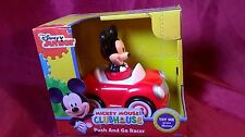 Disney Junior Mickey Mouse Push And Go Racer Press Mickey Watch Wheels Spin New