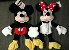 4f2e4e23d38 2 Lot MICKEY   MINNIE MOUSE Build a Bear Plush Doll Set World Land Park  Workshop