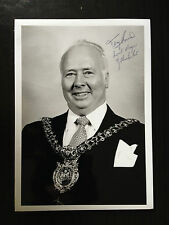 TONY BURNS - FORMER LORD MAYOR OF MANCHESTER - SUPERB SIGNED PHOTOGRAPH