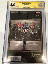 Monsters Unleashed #1 variant - CGC Signature - Sanford Greene