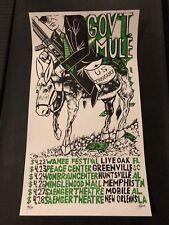 Gov't Mule Spring Tour Pollock Concert Poster April 2017 Memphis New Orleans
