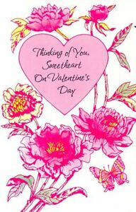 Thinking of You Sweetheart On Valentines Day - Valentines Greeting Card - V03-13