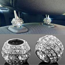 2x Icy Crystal Car Seat Headrest Collar Decor Charm Diamond Rhinestone Accessory