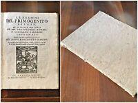 Le ragioni del primogenito difese. Benedetto Maschio in Genova 1664