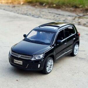 New 1:32 Volkswagen Tiguan Diecast Model SUV Black Toy Car Gift For Kids