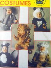 Uncut McCalls Sewing Pattern Tom Arma M6105 Child Costume Lion Elephant Skunk