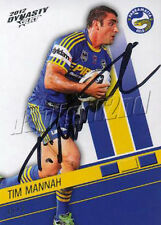 ✺Signed✺ 2012 PARRAMATTA EELS NRL Card TIM MANNAH