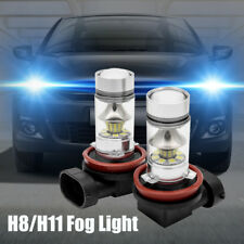2× H11 H8 LED Voiture Brouillard Lumière 100W Conduite DRL 6000k blanc Ampoules