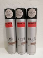 Bundle of 3 Toppik Colored Hair Thickener Black 5.1 oz. Light Brown