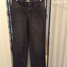Ann Taylor Loft black denim jeans  boot leg size 6 5 pockets