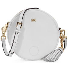 On Hand Authentic MICHAEL KORS PEBBLE LEATHER CANTEEN CROSSBODY- Optic White