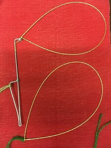 Rabbit snares mixed pack; 5x figure four snares and 5x fence snares