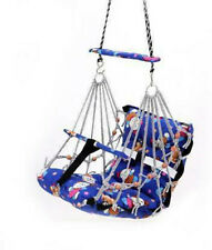 Baby Multi Printed & Color Classic Indian Swing For With Wooden Handle Hanging