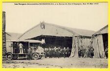 cpa Rare AÉRODROME de BUC (Yvelines) HANGARS démontable BESSONNEAU ROI d'ESPAGNE