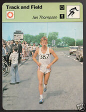 IAN THOMPSON British Marathon Running Track & Field 1979 SPORTSCASTER CARD 66-18