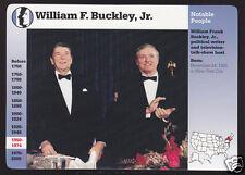 WILLIAM F. BUCKLEY, JR. Ronald Reagan Photo GROLIER STORY OF AMERICA CARD