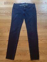 American Eagle Womens Blue Medium Wash Skinny Leg Jeggings Low-Rise Jeans Size 4