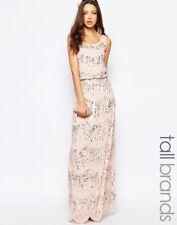 Chiffon Embellished Maxi Dress by Maya Tall PINK UK 12 RRP £125
