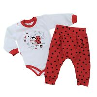 BNWT Baby Infant Girls Outfit Set Bodysuit & Trousers  3-6/6-9/9-12/12-18 Months