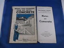 WHAT THE FARMER CAN DO WITH CONCRETE BOOK CANADA PORTLAND CEMENT CO. MONTREAL