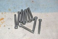 SCREW: SLOTTED FILLISTER HEAD 6-32 NC 7/8 inch 10 pcs plated steel