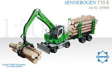 Conrad 2958 Sennebogen 735 E Log Handling Machine w/Grab & Trailer Die-cast MIB
